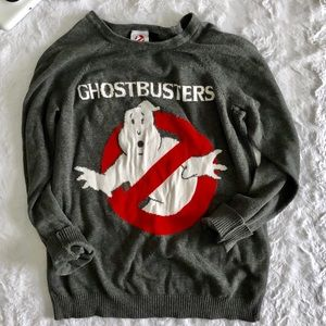 Forever 21 Ghostbusters Gray Crew Sweater